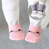 微笑貓咪兔子雙層長襪+短襪2件組 嬰兒襪 中筒襪 短襪 帆船襪