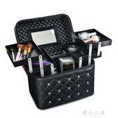 化妝包女士大容量雙層多功能便攜大號護膚品收納盒專業手提化妝箱 晴光小語