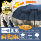 堅固防風傘雨傘折傘 摺疊自動傘折傘【颱風...