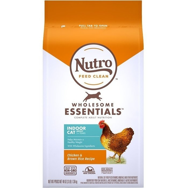 *KING*美士NUTRO《全護營養系列-室內貓成貓配方(農場鮮雞+糙米)》5磅/2.26kg 貓糧 一至七歲室內貓