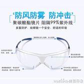 護目鏡防風灰塵眼鏡防風沙騎行風鏡勞保防飛濺防護透明眼鏡男女 美芭