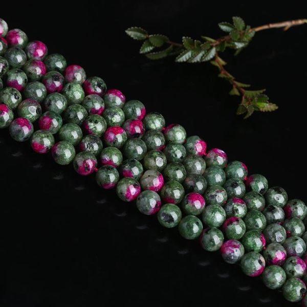 [超豐國際]優化水晶紅綠寶散珠半成品飾品手鏈項鏈手工飾品配件1入