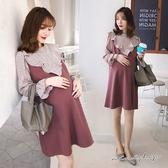 孕婦裝 MIMI別走【P52801】襯托好氣質 蜜紫雪紡連衣裙 孕婦裙 洋裝