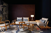 [紅蘋果傢俱] WJM-8038 烏金木系列 L型沙發 造型沙發 頂級全實木沙發 休閒椅 板椅 茶几