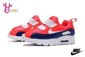 NIKE AIR MAX TINY 90 (TD) 小童 寶寶運動鞋 免綁帶 套入式 休閒運動鞋 P7010#橘藍◆OSOME奧森鞋業