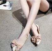 鞋女新款春季韓版蝴蝶結百搭一腳蹬單鞋女休閒平底鞋 聖誕交換禮物