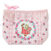 【KP】茉莉兔玫瑰蕾絲化妝包 三麗鷗 收納包 正版日本進口授權 4901610559383
