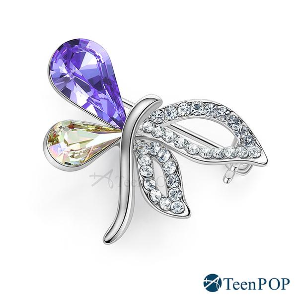 別針胸針 ATeenPOP 正白K 晶彩蝴蝶 採施華洛世奇水晶 兩款任選 媽媽禮物