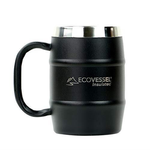 【美國代購】EcoVessel DOUBLE BARREL雙層絕緣不銹鋼啤酒和咖啡杯