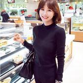 修身t韓版上衣高領長袖針織衫絲光棉打底衫女裝顯瘦G34-823