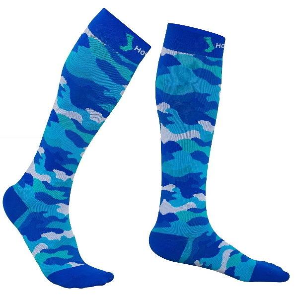 HOYISOX HYR3男女適用 迷彩運動襪 20-30mmHg 抗菌除臭 路跑 打球 各式運動 恢復快速壓力襪 加壓襪