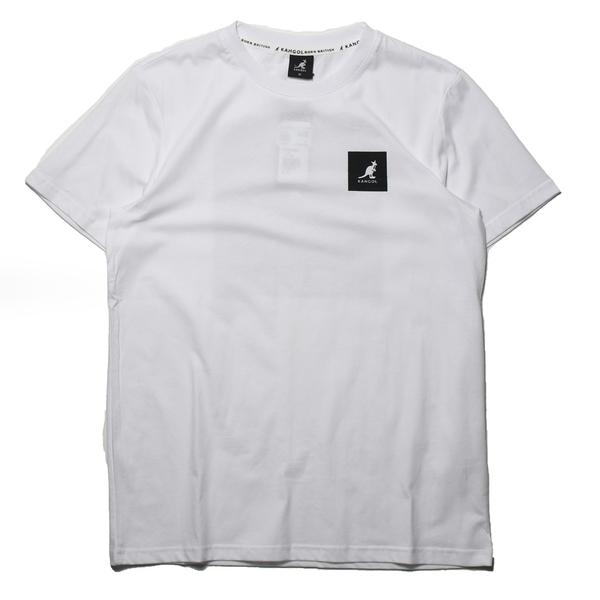 KANGOL 短袖 短T 袋鼠 白 正方LOGO 後大LOGO 男 (布魯克林) 6125101300