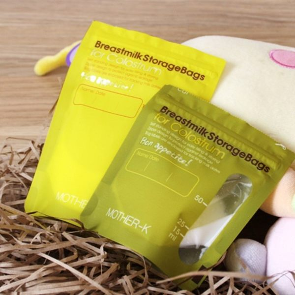 母乳抗菌儲存袋50ml/100ml(黃綠)