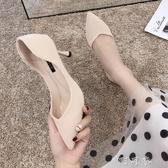 小清新高跟鞋女法式春秋新款性感網紅學生十八歲細跟尖頭單鞋 町目家