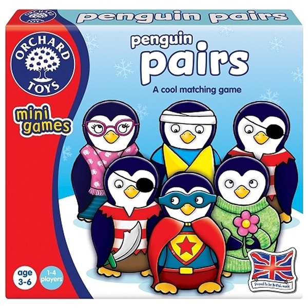 【英國 Orchard Toys】兒童桌遊-配對遊戲 企鵝配對 OT-351