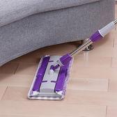 清潔 可伸縮可替換夾固式平板拖把 加贈優質布  去汙 除塵 拖地 旋轉拖把    【DFA002】-收納女王