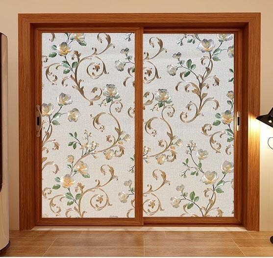 窗戶玻璃貼 無膠靜電玻璃貼膜磨砂浴室衛生間窗戶貼紙透光不透明防曬 果果生活館
