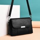 側背包 中年女包媽媽包2019新款包包女士簡約大容量單肩包斜挎包小包