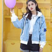 牛仔外套 2019春裝新款牛仔外套女韓版學生夾克寬鬆百搭連帽外衣BF風牛仔衣