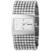 DKNY Bryant Park 璀璨星空晶鑽手環腕錶/手錶-銀/33mm NY4661