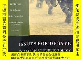 二手書博民逛書店Issues罕見for Debate in American P