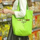 ♚MY COLOR♚創意圖案摺疊購物袋 便攜 超式 可提 可掛 環保 收納 鑰匙 多色 時尚 雜物【J176】
