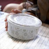 泡面碗帶蓋陶瓷大號韓式便當盒碗骨瓷餐具拉面碗微波爐碗 奇幻樂園