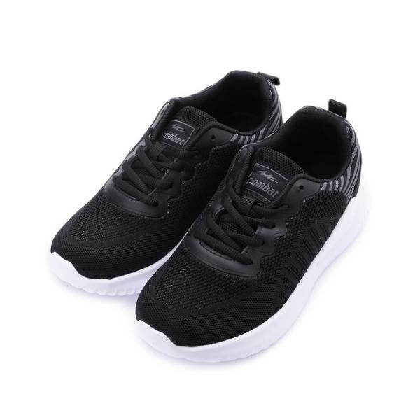 COMBAT 飛織輕量休閒跑鞋 黑 女鞋