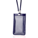 【LIEVO】 TOUCH - 真皮斜背手機護照包_午夜藍(115 * 195 mm機身尺寸以下皆適用)