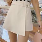 VK精品服飾 韓系不規則寬口褲西裝外穿休閒裙褲高腰單品短裙