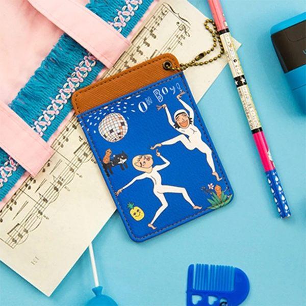卡片夾-搞怪人物卡套/名片夾/悠遊卡/票卡夾-共4色-B290021-FuFu