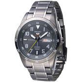 SEIKO SPORTS 城市獵人5號24石自動機械錶-全IP黑(SRP521K1)