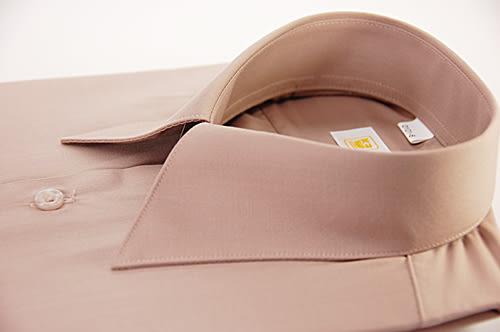 【金‧安德森】褐色仿絲短袖襯衫