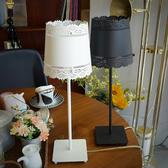 【黑五最後倒數】18PARK 蕾絲邊檯燈-黑含LED-4W黃光燈泡-生活工場