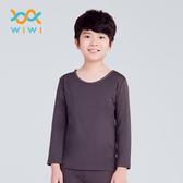【WIWI】MIT溫灸刷毛圓領發熱衣(銀河灰 童70-150)