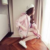 秋季少女外套風衣女夏天正韓學生薄開衫防曬衣短款棒球服 提前降價 免運直出