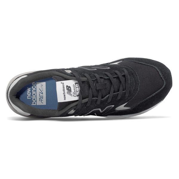 New Balance 580 男鞋 女鞋 休閒 復古 麂皮 網布 黑 灰 白 【運動世界】 MRT580BN