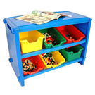 寶貝家 多功能積木收納架(藍色)送100顆小積木~台灣生產喔!(MJ0285B)