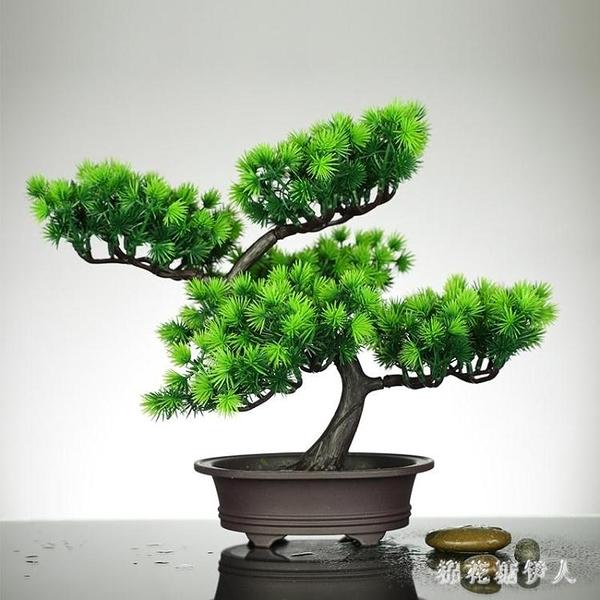仿真綠植小盆栽室內裝飾祿植松樹家居客廳植物塑料擺件迎客松盆景 PA13050『棉花糖伊人』