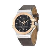 MASERATI 瑪莎拉蒂 R8851108014 經典海神logo 白金配錶款 錶現精品 原廠正貨