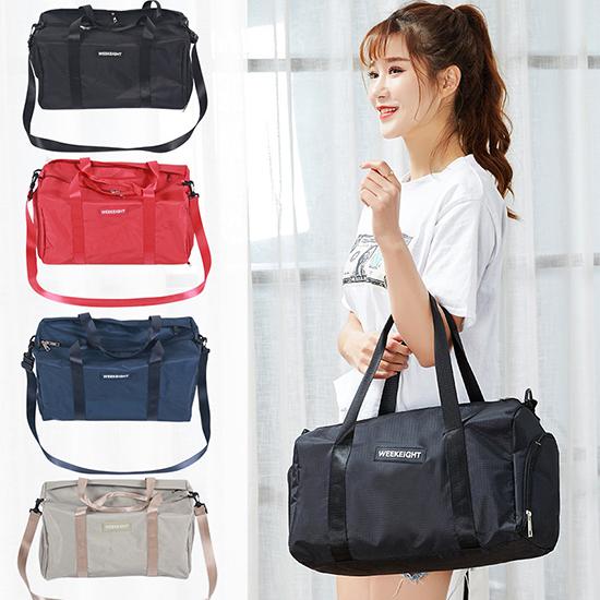 旅行袋 拉桿包 手提 行李袋 肩背包 大容量 斜背包 出國 韓版多功能健身包(小) 【B005-1】慢思行