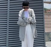 棉質外套開衫連帽上衣M-2XL秋季新款韓版寬鬆大碼長款過膝純色連衣裙七分袖NC417.604胖胖唯依二店