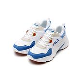 FILA HIDDEN TAPE2 女款白藍復古厚底休閒鞋 5J329V133