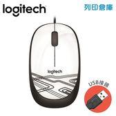 Logitech羅技 M105有線光學滑鼠-白(USB)