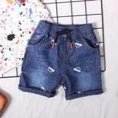 2019新款童裝 男童夏款牛仔短褲子 兒童寶寶韓版薄款柔軟牛仔中褲