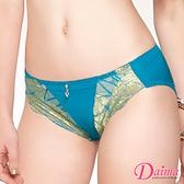內褲 華麗雙色刺繡蠶絲機能款(藍色)【Daima黛瑪】
