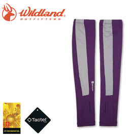 丹大戶外【Wildand】荒野 中性開洞抗UV透氣袖套 加長設計 長度至手背 W1801-53 紫色