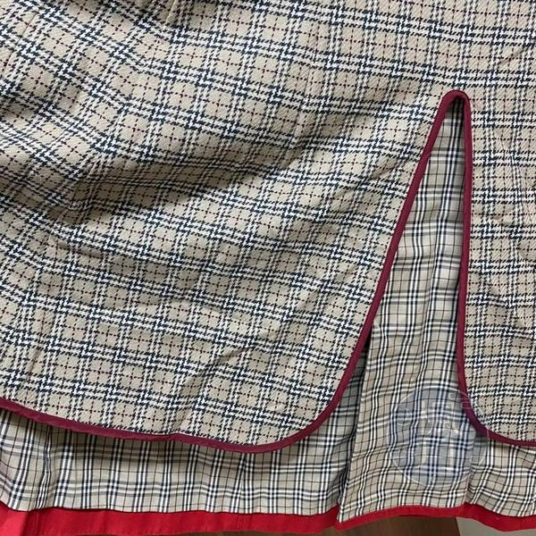 BRAND楓月 BURBERRY BLUE LABEL 藍標 紅色風衣 大衣 #38 翻領 雙排扣 長版 單開岔 防風