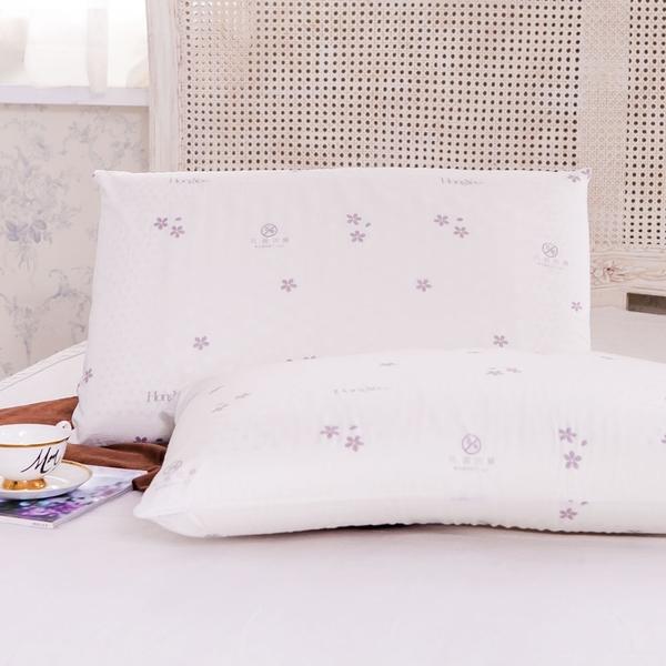鴻宇 防蟎抗菌加大型乳膠枕2入 SGS檢驗無毒 美國棉授權品牌 台灣製