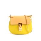【CHLOE】山羊皮金鏈mini drew bag (檸檬黃拚色)3S1032 HOX BFA